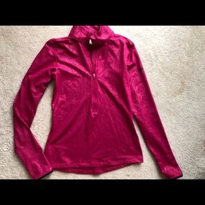 Womens new Nike pink animal print pullover. Small